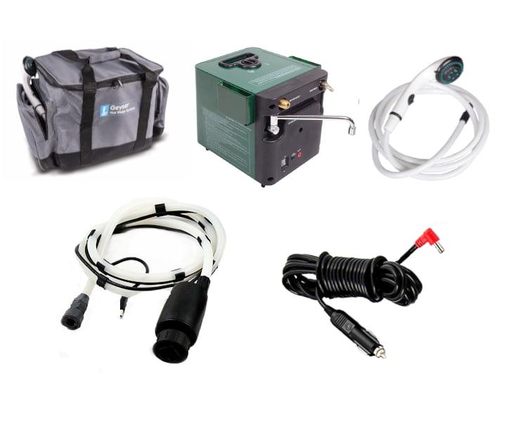 Accesorios incluidos al comprar un Calentador portatil Kampa Geyser