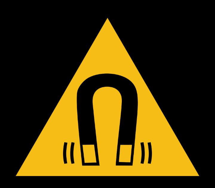 Símbolo internacional de advertencia de campo magnético intenso