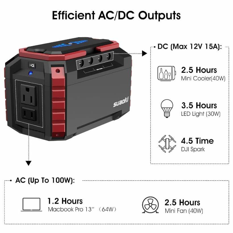 tiempo de uso de la batería al alimentar a otros dispositivos